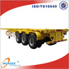 China WONDEE 40T Container Three Wheel Trailer