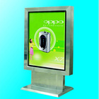 Outdoor rectangle customizable scrolling light box with aluminum