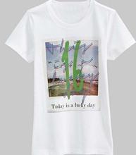 china factory wholesale lady's casual style fashion summer basic t shirt with short sleeve