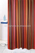 Low MOQ Popular Stripe design Hotel bath shower curtains
