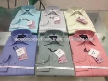 Export Quality Indian Fashion Mens Shirt Design / Mens Formal Shirt