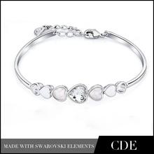 Crystal Seashell Charm Bracelet