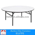 2014 nuevo estilo plegable de madera mesa redonda de banquetes mesa plegable ez-88