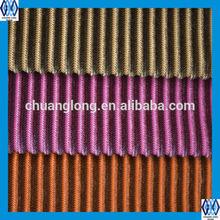 High quality stripe micro-velboa fabric for sofa