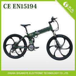 350w folding electric mountain bikes frame full suspension