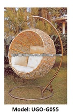 PE rattan furniture 2015 outdoor/indoor swing chair