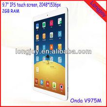 Migliore qualità onda v975m 9,7 pollici androide 4,3 quad core 2gb ram tablet pc