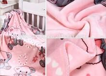 children blanket polyester blanket baby blankets wholesale super soft DTY micro fleece fabric with chlidren