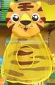 الحيوان-- النمر على شكل شكل حمام حمام لعب يحمل حقيبة صافي
