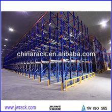 Storage push back racking