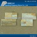 china ardósia varanda de azulejos de pavimentação amarelo natural folheado ardósia