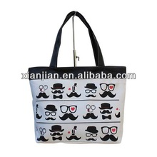Ladies Funny Tote Shopping Bag With Tile Print Beard Printed\(BXZZ009)