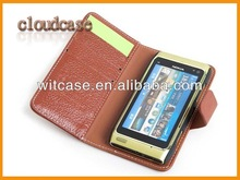 Genuine Leather flip cover Case For Nokia N8 Case
