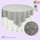 Nantong silver sequin overlay/table cloth