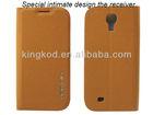 Easybear Design fashion twill series tpu phone leather case for S4 I9500