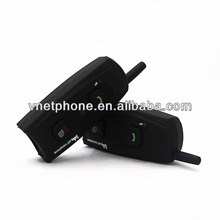 wireless full duplex V2-1200 motorcycle helmet bluetooth headset/intercom