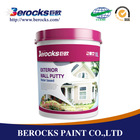Berocks odorless waterproof wall putty exterior wholesale acrylic paint