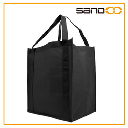 Reusable Reinforced Handle Large Shopping grocery bag, Foldable tote bag blank