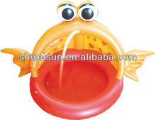 Lovely Inflatable Goldfish Spray Pool