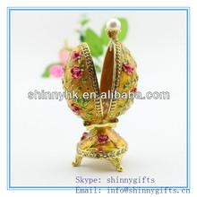 Pâques cadeaux et artisanat / nouveau Design Easter Egg / boîte de bijoux en métal SCJ1009