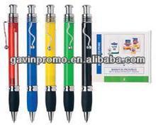 Scroll banner pen with steel clip, full print flag pen