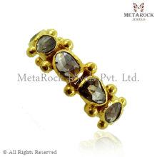 14k Gold Rose Cut Diamond Band, Wholesale Designer Gold Diamond Ring, Latest Design Diamond Ring Rose Cut Jewelry