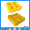 Square shape floating cup inflatable holder with 4 holes