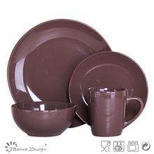 16pcs chocolate color dinner set ceramic tableware with AB grade factory price
