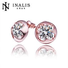 2014 SGS Certified fashion stud diamond earrings screw back E429