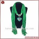 Heart shape pendant wholesale scarf