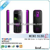 mini5130 Dual sim card dual standby 0.3 MP camera 1.44 inch China supplier cell phone