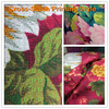 Cross-Stitch Style Reactive Printed with Gold Bedding Set Cotton Twill Fabric