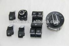 OEM VW Chromed Auto Headlight Switch+Rearview Side Mirror Switch+Power window switch for VW CC Tiguan Passat B6 Golf Jetta MK5 6