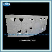 décoratif extérieur en marbre blanc de balustrade main courante