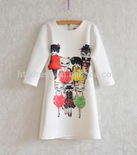 D651082 Europe and America wholesale elegant cat print zip back dress shivering slim dress