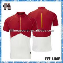 zip collar O-neck mens skin tight athlete gym t-shirt/ coolpass stretchy t-shirt custom