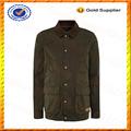 Personalizado algodão encerado jaqueta/mens cera revestido casaco grosso