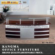 Office furniture cherry color reception desk dimensions