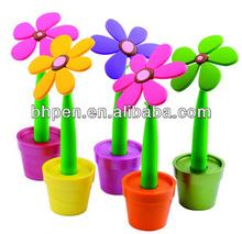 Flower with pot design cartoon pen