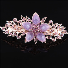 new arrival crystal stone hair accessory high quality alloy hair claw wholesale