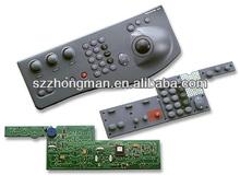PCBA silicone rubber keypad membrane switch
