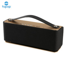 Pure sound bt wireless stereo bluetooth speaker leather handle portable