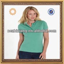 Fashion slim fit fitted women's polo shirt,womens plaid polo shirt
