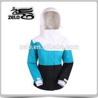 Soccer sport wear skiing jacket for women