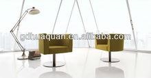 2014 new design leisure swivel chair wood base