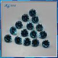 China proveedor de piedras preciosas!!! Azul ronda cúbicos circonia sueltos sin cortar diamantes precio por quilate