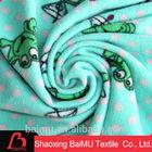 cartoon frog patterns 100% polyester FDY printed micro polar fleece fabric