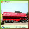 Ejes 2/3 descarga semi remolque, bomba hidráulica para camión de volteo para carbón/minerales/materiales de construcción con transporte trasera opcional