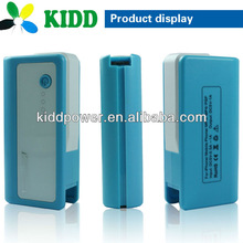 mini portable power bank charger with 2600 li-polymer battery cell for smart phone, laptop, digital camera