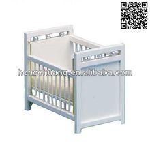 1/12 scale miniature dollhouse furniture wooden mini white cribs